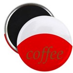 Red Brown Coffee Magnets