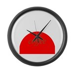 Red Brown Coffee Large Wall Clock