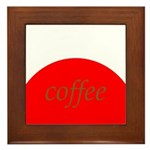 Red Brown Coffee Framed Tile