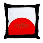 Red Brown Coffee Throw Pillow
