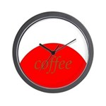 Red Brown Coffee Wall Clock