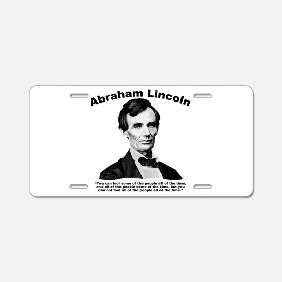 Lincoln: Truth Aluminum License Plate