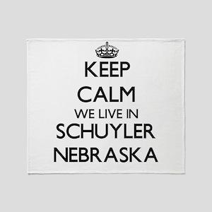 Keep calm we live in Schuyler Nebras Throw Blanket