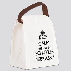 Keep calm we live in Schuyler Neb Canvas Lunch Bag