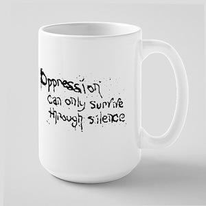 oppressionstencilwhite Mugs