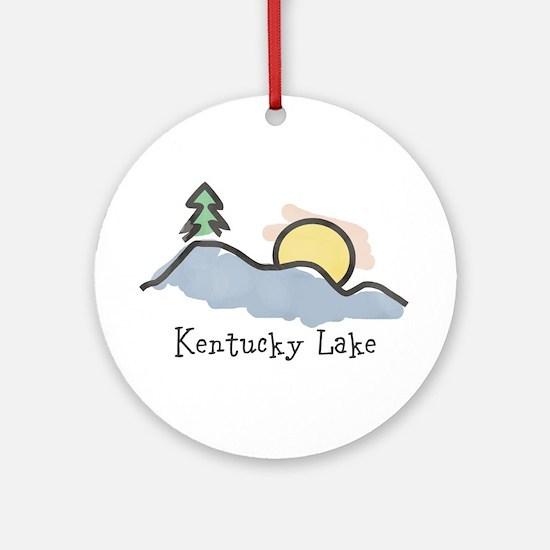 Lake Sunset Ornament (Round)