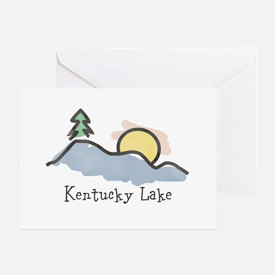 Lake Sunset Greeting Cards