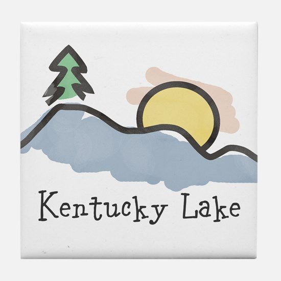 Lake Sunset Tile Coaster