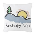 Lake Sunset Woven Throw Pillow
