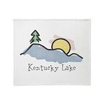 Lake Sunset Throw Blanket