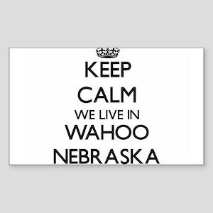 Keep calm we live in Wahoo Nebraska Sticker