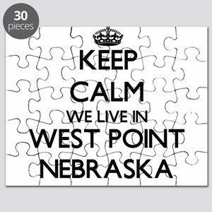 Keep calm we live in West Point Nebraska Puzzle