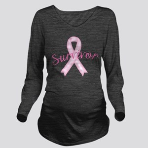 Breast Cancer Awareness Survivor Long Sleeve Mater