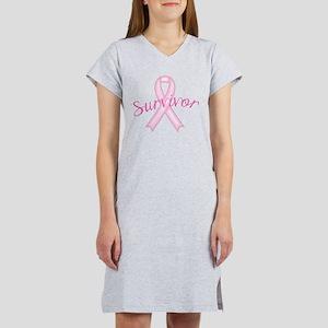 Breast Cancer Awareness Survivor Women's Nightshir