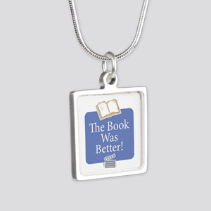 Book was better - Silver Square Necklace