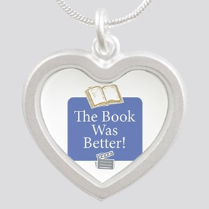 Book was better - Silver Heart Necklace