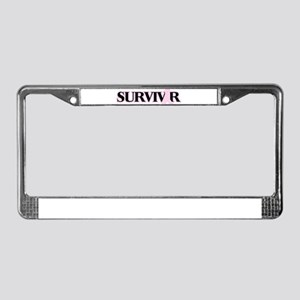 Breast Cancer Survivor License Plate Frame