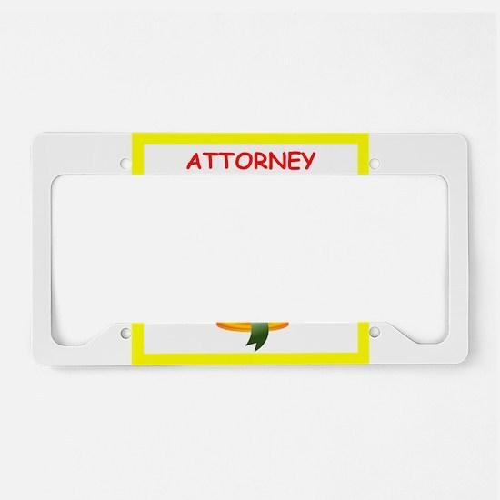 attorney License Plate Holder