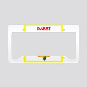 rabbi License Plate Holder