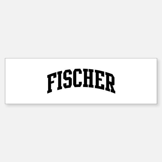 FISCHER (curve-black) Bumper Bumper Stickers