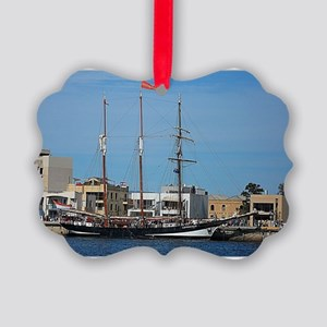 Tall Ships at Pt Adelaide South A Picture Ornament