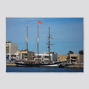 Tall Ships at Pt Adelaide South Aus 5'x7'Area Rug