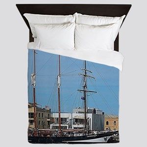 Tall Ships at Pt Adelaide South Austra Queen Duvet