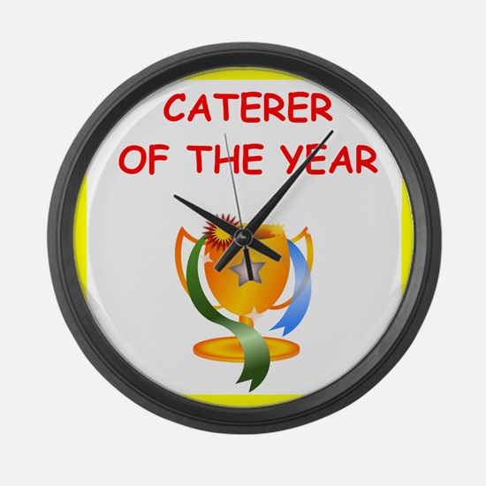 caterer Large Wall Clock