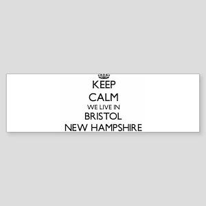 Keep calm we live in Bristol New Ha Bumper Sticker