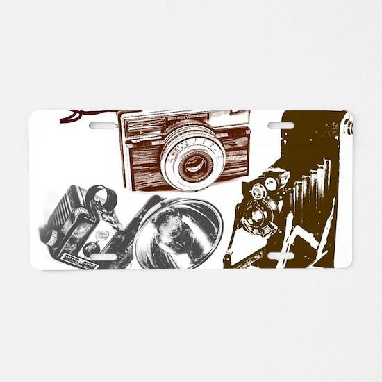 Modern photographer vintage Aluminum License Plate