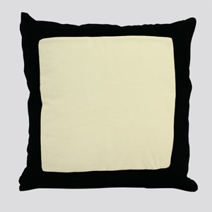 modern light yellow Throw Pillow