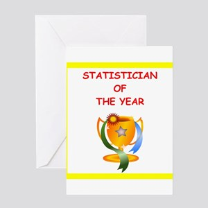 statistician Greeting Cards
