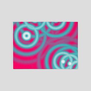 girly fuschia pink 5'x7'Area Rug