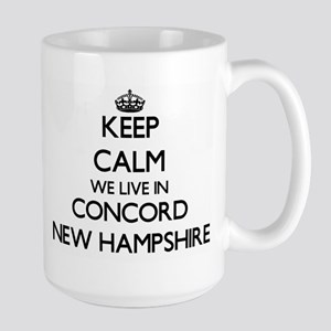 Keep calm we live in Concord New Hampshire Mugs
