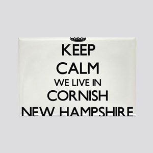 Keep calm we live in Cornish New Hampshire Magnets