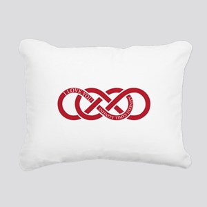 Infinity Times Infinity Rectangular Canvas Pillow