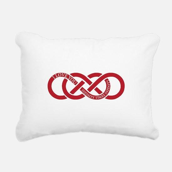 Infinity Times Infinity Rectangular Canvas Pillow