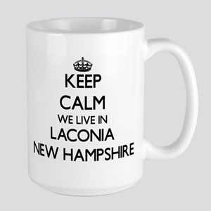 Keep calm we live in Laconia New Hampshire Mugs