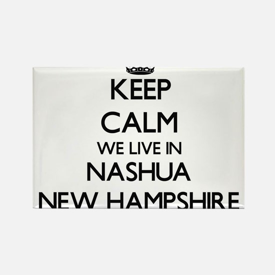 Keep calm we live in Nashua New Hampshire Magnets
