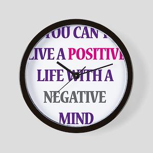 Positive life Wall Clock