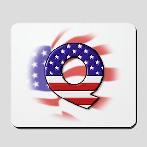 Flag Monogram Q Mousepad