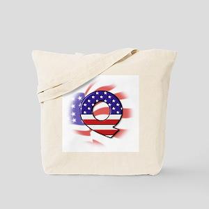 Flag Monogram Q Tote Bag