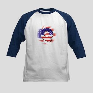 Flag Monogram Q Kids Baseball Jersey