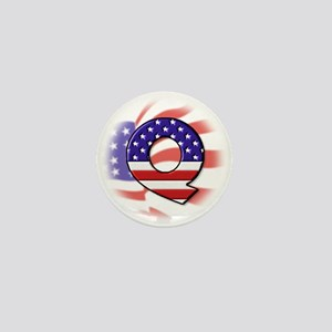 Flag Monogram Q Mini Button