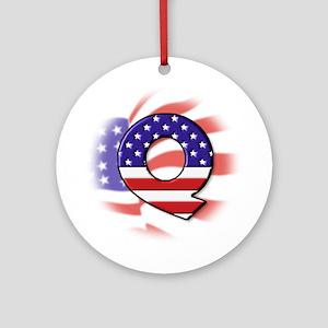 Flag Monogram Q Ornament (Round)