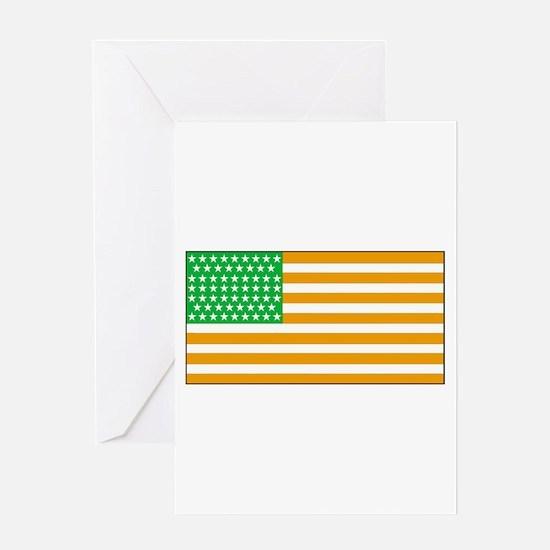 Irish American Flag 2 Greeting Cards