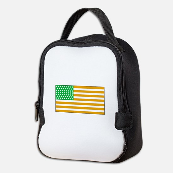 Irish American Flag 2 Neoprene Lunch Bag