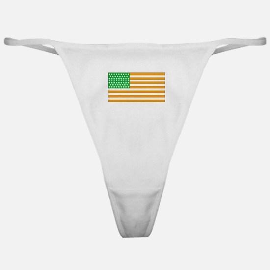 Irish American Flag 2 Classic Thong