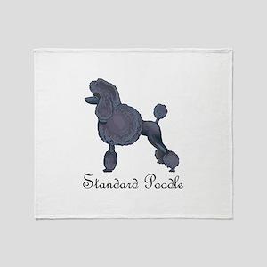 STANDARD POODLE Throw Blanket