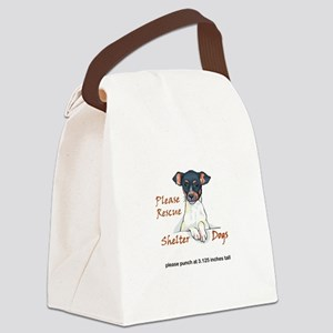 SHELTER DOGS Canvas Lunch Bag